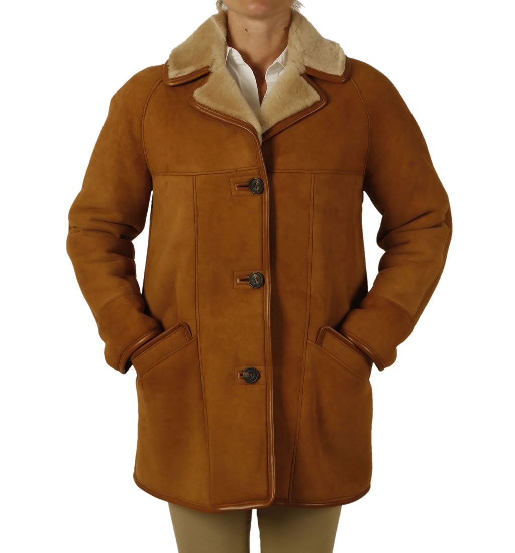 Ladies Classic Sheepskin Coat from Simons Leather