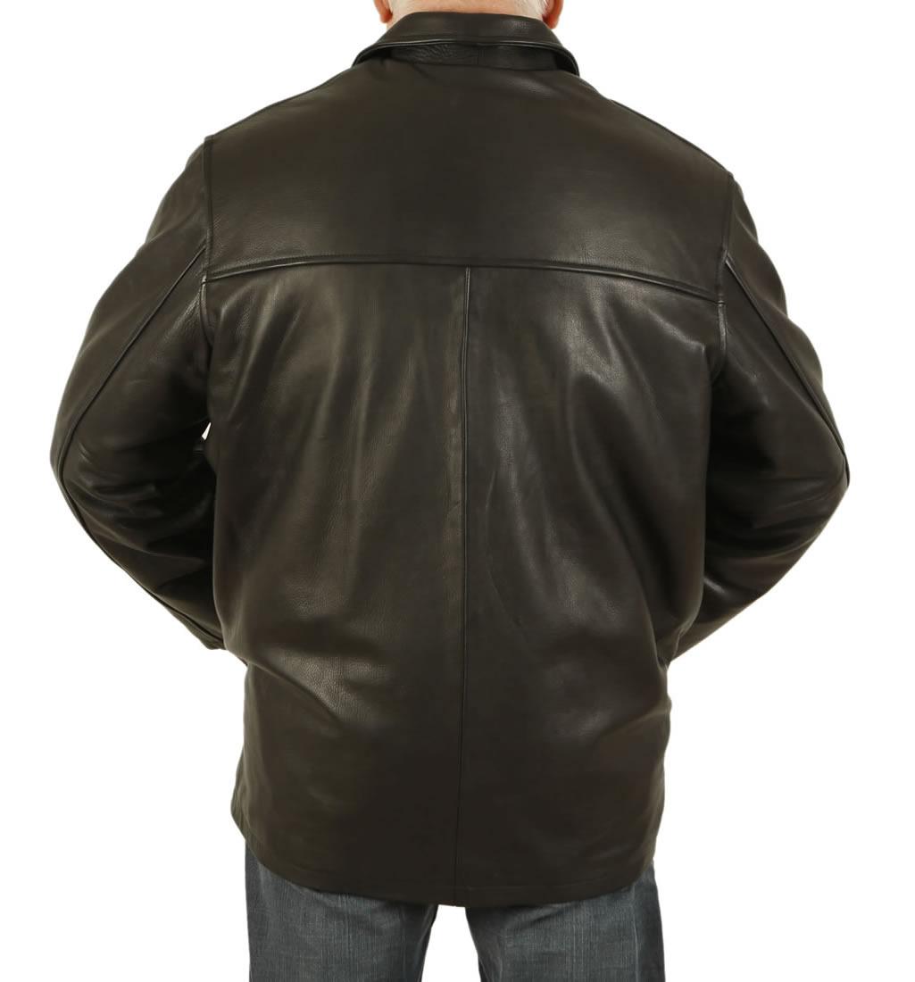 Leather box jacket