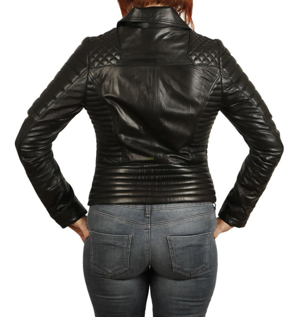 Womens designer leather jacket