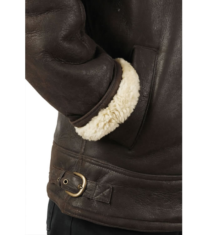 SL1160M - Straight Zip Sheepskin Flying Jacket