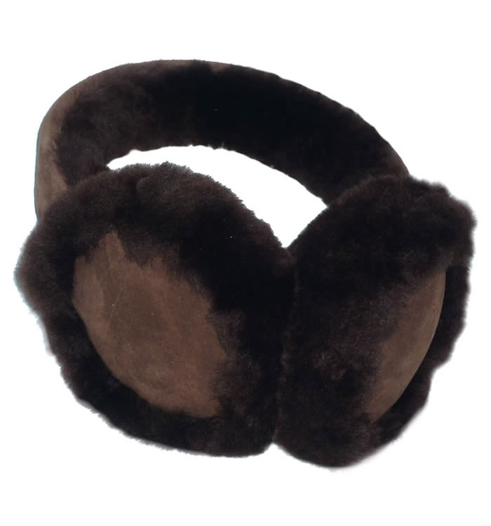 Brown Sheepskin Ear Muffs - SL611181