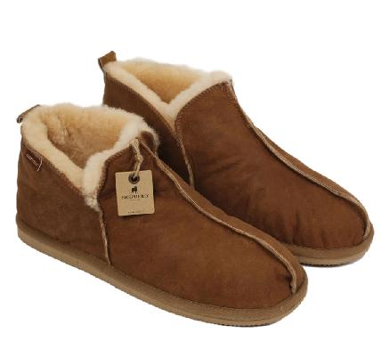 192be19ee6d8 ... SL61211L - Shepherd Anton Men s Boot Style Antique Leather Sheepskin  Slipper ...