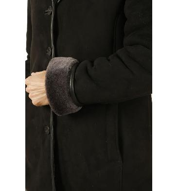 SL117718 - Ladies Shaped Classic Sheepskin Coat