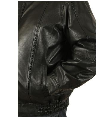 SL11167XL - Size 7XL Mens Black Leather Blouson