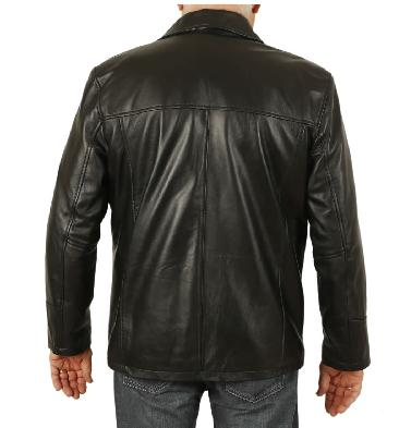 SL11306XL - Size 6XL Gents Four Button Black Leather Jacket