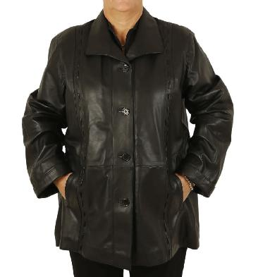 Womens Plus Size Leather Jackets