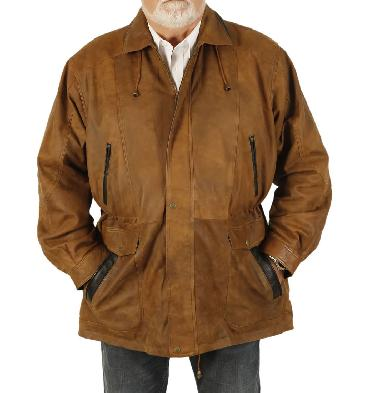 SL11032114XL - 4XL Gents 3/4 Length Antique Tan