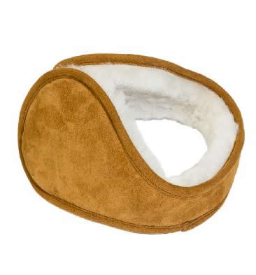 Sheepskin Ear Muffs In Tan - SL61119