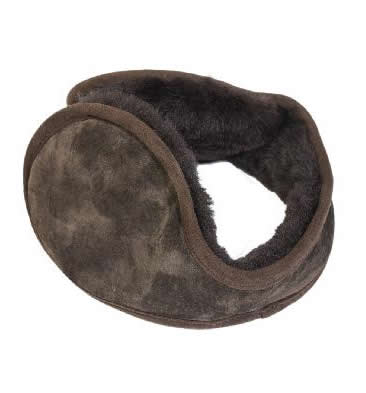 Sheepskin Ear Muffs In Brown - SL611191