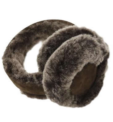 Brown Tipped Sheepskin Ear Muffs - SL6111811