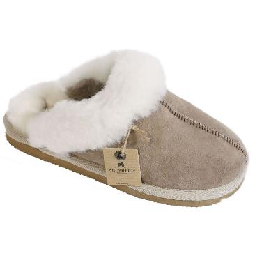 Shepherd Are Girls Cuffed Stone Sheepskin Mule Slipper - SL601005