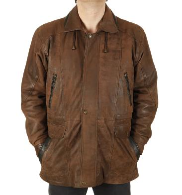 Mens Plus Size Longer Leather Jackets And Coats