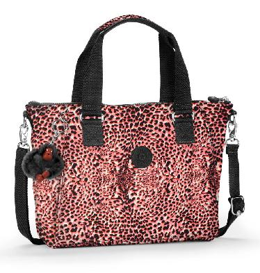 Kipling Amiel Medium Handbag In Fiesta Animal Print