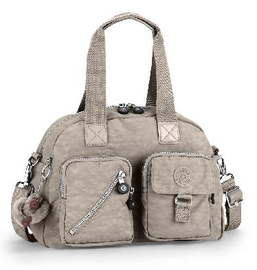 Kipling Defea Handbag In Warm Grey