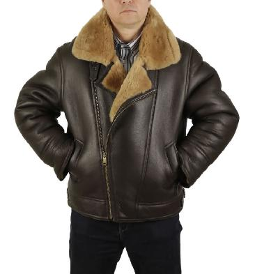 Premium Quality Full Shearling Cross Over Sheepskin Flying Jacket - SL115812
