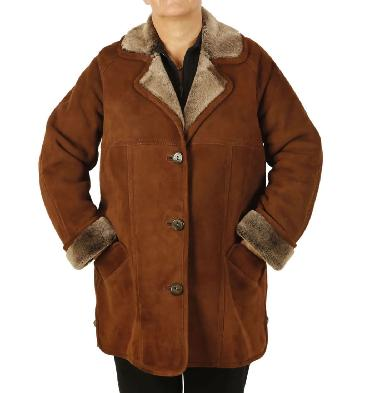 Ladies Classic Sheepskin Coat - SL11771B