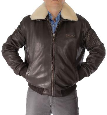 Mens Premium Quality Brown Leather Flight Jacket - SL100100