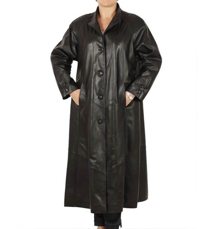 Ladies Full Length Leather Coats