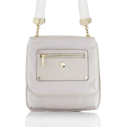 """Oshika"" Dual Compartment Cross Body Leather Bag - SL80121"