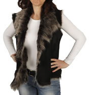 Ladies Raw Edge Tuscana Lambskin Gillet - SL12651
