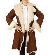 "Ladies 3/4 Shearling ""Tuscana"" Coat - SL11791"