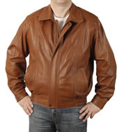 Mens Antique Tan Classical Style Leather  Blouson  - SL1117