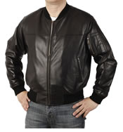 Leather Bomber Jacket - SL1122