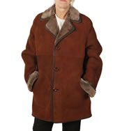 Ladies Classic Sheepskin Coat - SL11771
